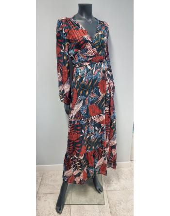 Robe longue porte-feuille